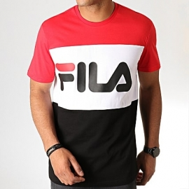 T-shirt Fila homme - Day rouge/blanc/noir title=