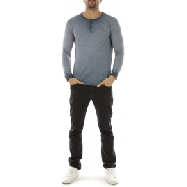 Tee Shirt Manches Longues Hopenlife Homme - Indigo