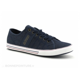 Baskets Kappa Calexi Homme - Blue Marine Gold title=