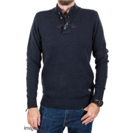 Pull Teddy Smith Homme - Navy/Chiné title=