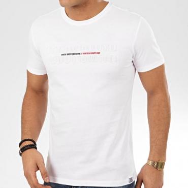T-shirt Teddy Smith - T-Gordon Blanc