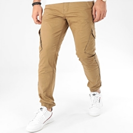 Pantalon Teddy Smith Cargo Battle Stretch Bois Brun title=