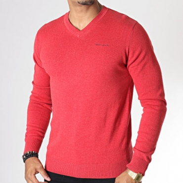 Pull Teddy Smith Pulser - Rouge Chiné