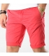 Short Teddy Smith Chino Stretch - Rouge