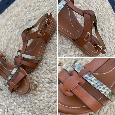 Sandales Mila Coloris Camel