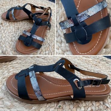 Sandales Mila Coloris Noir