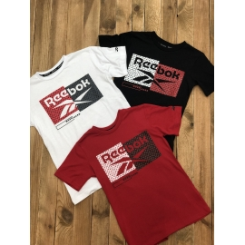 T-shirt Reebok repeat & blocked title=