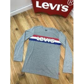 Levis tee shirt ML - gris, logo bleu blanc rouge title=