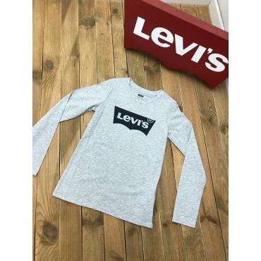 Levis tee shirt ML - gris, logo bleu