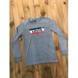 T-shirt Levis garçon ML gris logo tricolore title=