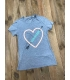 T-shirt femme Converse Neon Lights Heart