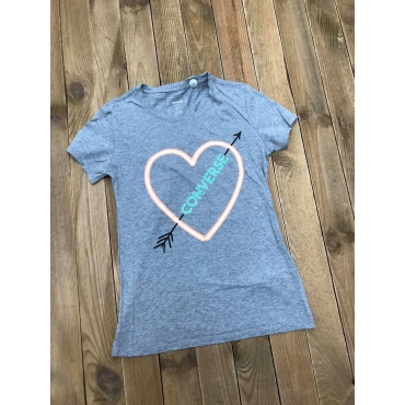 Converse tee shirt femme Neon Lights Heart