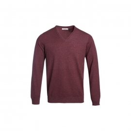 Teddy Smith pull piko - dark wine title=