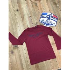 Teddy Smith tee shirt garçon Ticlass3 ML title=