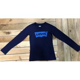 T-shirt manches longues fille Levis bleu title=