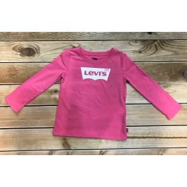 T-shirt manches longues fille Levis rose title=