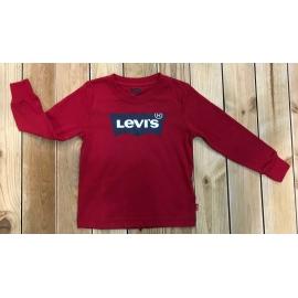 t-shirt manches longues Levis enfant rouge