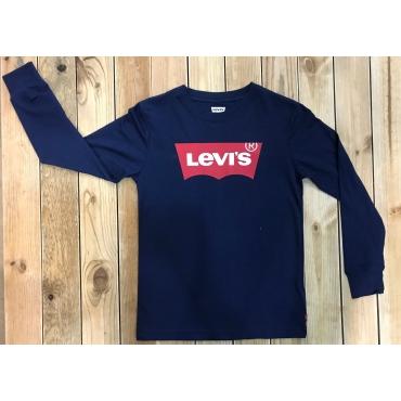 t-shirt manches longues Levis enfant bleu