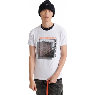Superdry tee shirt homme ticket type