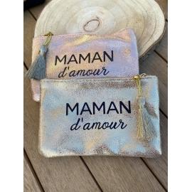 """Pochette Brillante """"maman d'amour"""" title="""