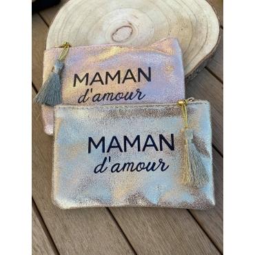 """Pochette Brillante """"maman d'amour"""""""