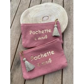"""Pochette gaze de coton """"pochette à secrets"""" title="""