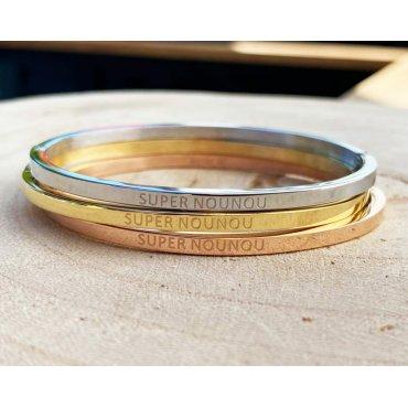 """Bracelet à message (BAM) """"super nounou"""""""