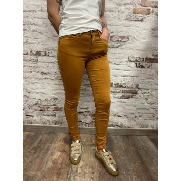 Pantalon coupe slim Molly moutarde