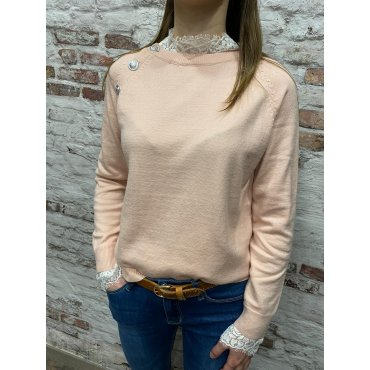 Pull Tomy rose poudré