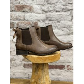 Boots Zoé femme similicuir taupe