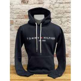 Sweat à capuche mixte Tommy Hilfiger bleu