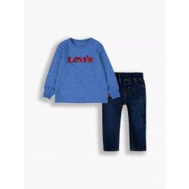 Ensemble Levi's haut bleu + jeans bébé garçon