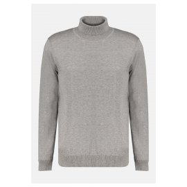 Pull col roulé Deeluxe gris homme